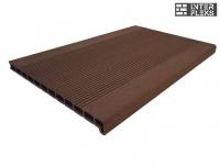 Ступень ДПК Drevplast шоколад пустотелая 348х22