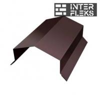 Парапетная крышка угольная 250мм 0,5 Satin с пленкой RAL 8017 шоколад