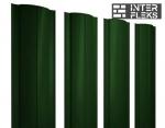 Металлический штакетник GL круглый RAL 6005 зеленый мох