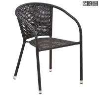 Кресло из иск. ротанга Y137B Dark brown