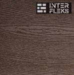 Фасадная доска (планкен) Экодек шоколад 10х220