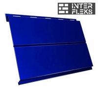Металлический сайдинг GL Вертикаль line RAL 5002 ультрамариново-синий (Grand Line)