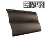 Металлический сайдинг GL Блок-хаус RR 32 темно-коричневый (Grand Line)