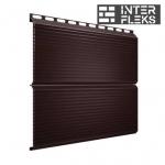 Металлический сайдинг GL ЭкоБрус Gofr RAL 8017 шоколад (Grand Line)