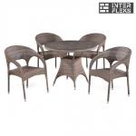Комплект мебели из иск. ротанга T220CG/Y90CG-W1289 Pale (4+1)