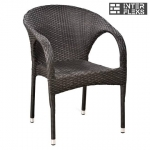 Кресло из иск. ротанга Y290W-W2390 Brown