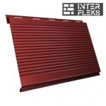 Металлический сайдинг GL Вертикаль gofr RAL 3009 оксидно-красный (Grand Line)