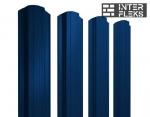 Металлический штакетник GL прямоугольный фигурный RAL 5005 сигнальный синий
