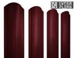 Металлический штакетник GL круглый фигурный RAL 3005 красное вино