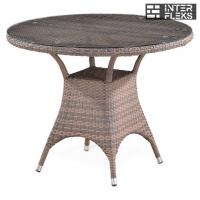 Стол из иск. ротанга T220CGT-W1289-D96 Pale