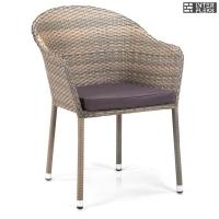 Кресло из иск. ротанга Y375G-W1289 Pale