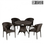 Комплект мебели из  иск. ротанга T190AD/Y290B-W52 Brown (4+1)