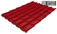 Металлочерепица Grand Line Modern RAL 3003 рубиново-красный