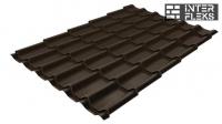 Металлочерепица Grand Line Classic RR 32 темно-коричневый