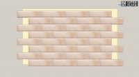 Фасадная термопанель Termosit с клинкерной плиткой Cerrad Retro Brick Salt