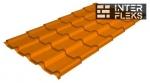 Металлочерепица Grand Line Kamea RAL 2004 оранжевый