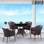 Комплект мебели из иск. ротанга T190B-1/Y197B Brown (4+1)