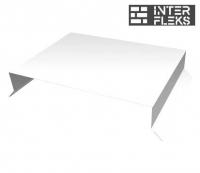 Парапетная крышка прямая 150мм 0,45 PE с пленкой RAL 9003 сигнальный белый