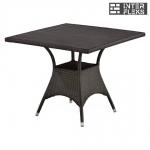 Стол из иск. ротанга T190BD-W52-90х90 Brown (декинг)
