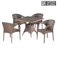 Комплект мебели из иск. ротанга T220BG/Y290BG-W1289 Pale (4+1)