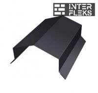 Парапетная крышка угольная 150мм 0,5 Velur20 с пленкой RR 32 темно-коричневый