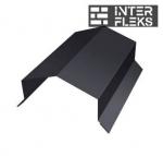 Парапетная крышка угольная 250мм 0,5 Velur20 с пленкой RAL 9005 черный