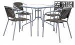 Комплект мебели XRB-035B-80x80 Black (4+1)