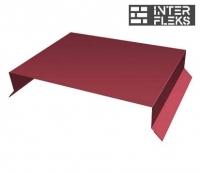 Парапетная крышка прямая 250мм 0,45 PE с пленкой RAL 3005 красное вино