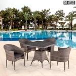 Комплект мебели из иск. ротанга T220BG/Y350BG-W1289 Pale (4+1)