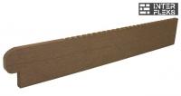 Торцевая заглушка для ступеней WOODVEX темно-коричневая
