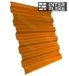 Кровельный профнастил GL-35R RAL 2004 оранжевый