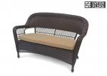 Двухместный диван из искусственного ротанга