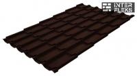 Металлочерепица Grand Line Classic RR 887 шоколадно-коричневый