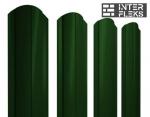 Металлический штакетник GL круглый фигурный RAL 6005 зеленый мох