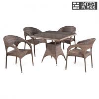 Комплект мебели из иск. ротангаT220BG/Y90CG-W1289 Pale (4+1)