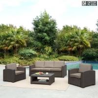 Комплект мебели с диваном AFM-3017B Dark brown
