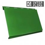 Металлический сайдинг GL Вертикаль classic RAL 6002 лиственно-зеленый (Grand Line)