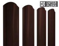 Металлический штакетник GL круглый фигурный RAL 8017 шоколад