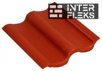 Цементно-песчаная черепица Baltic Tile Sea Wave Красный