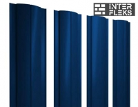 Металлический штакетник GL круглый RAL 5005 сигнальный синий