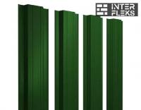Металлический штакетник GL прямоугольный RAL 6005 зеленый мох