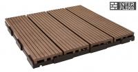 Садовый паркет Woodvex темно-коричневый
