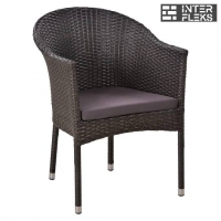 Кресло из иск. ротанга Y350B-W51 Brown