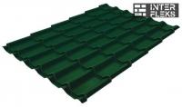 Металлочерепица Grand Line Modern RAL 6005 зеленый мох
