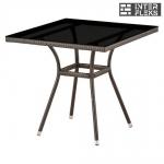 Стол из иск. ротанга T283BNS-W51-80х80 Brown