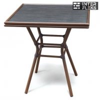 Стол A1016-AD64-70х70 Dark brown