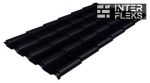 Металлочерепица Grand Line Kamea RAL 9005 черный