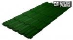 Металлочерепица Grand Line Kvinta Plus RAL 6002 лиственно-зеленый