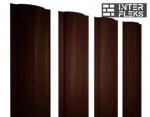 Металлический штакетник GL круглый RR 32 темно-коричневый
