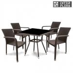 Комплект мебели из иск. ротанга T283BNS-W51/A2001B-W53 Brown (4+1)